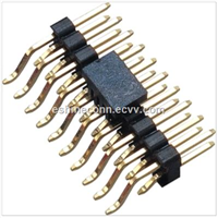 """BB02-TH 2.54mm 0.1"""" Pin Header Terminal Strip Dual Row Right Angle SMT 4 to 60 Contacts"""