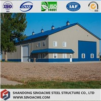 Prefabricated Steel Construction Workshop with Mezzanine
