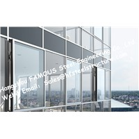 Pre-Glazed Double Skin Unitized Glass Facade Curtain Wall Hidden Frame Design & Installation