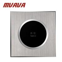 MVAVA Touch Wall Switch Satin Metal Panel UK Touch Switch Screen Wall Light Switch 1 Gang 2 Way White for LED Lamp