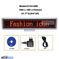 High Quality USB Rechargeable P4.0 LED Message Sign Board