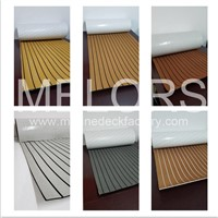 Melors Synthetic Marine Boat Decking Strip EVA Faux Teak Flooring Strips