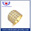 Fine Jewelry Zircon Plated Luxury Full Finger Rings.