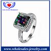 Zircon Engagement Wedding Colorful Gemstone Ring.