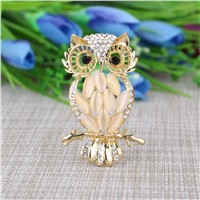Owl Brooch Simple High-Grade Opal Brooch