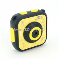 Mini Kids Outdoor Sports Action Camera with Waterproof Shell Action Cam