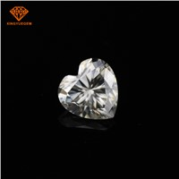 Heart Fancy Shape 1ct 6.5mm Loose Moissanite Gemstone for Moissanite Jewelry