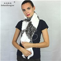 Factory Outlet Fashion Rex Rabbit Fur Women Scarf