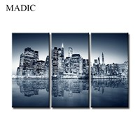 Wall Art Canvas Modern Oil Painting of Landscape Manhattan City View New York Landscapes Printed Wall Painting