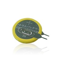 3V Lithium Button Cell CR2032 Battery with Solder Tabs/Pins