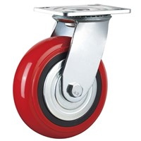 Heavy Duty Caster Wheel Swivel 6 Inches PU Plastic Hand Carts Trolley Wheels