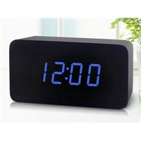 Silent Wooden Alarm Clock for Temperature Display LED Clock