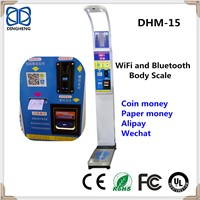 DHM-15 Coin & Cash Vending Height Weight Ultrasonic Body Fat Balance BMI Scale Body
