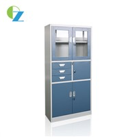 Easy Assemble KD Easy Assemble-Designed Steel Cupboard with 3 Drawers