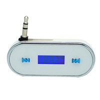 GXYKIT Car FM Transmitter F2 Radio Music Transmitter with Built-in Lithium Battery