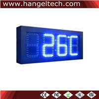 6 Inches Digit Outdoor Time & Temperature LED Display Clock