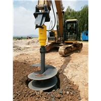 YDH Hydraulic Earth Auger Drives Auger Drill Excavator Attachment for Post Hole Digging