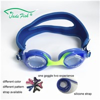 Safety Cartoon Cute Funny Children Healthy Swim Goggles Anti-Fog Customized Neoprene Changable Strap Swimming Goggles