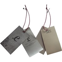 Custom Luxury Garment Folded Hang Tag with Artwork Printing