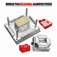High Quality Injection Molding Plastic Crate Mold with Bronze Insert Plastic Injection Mold