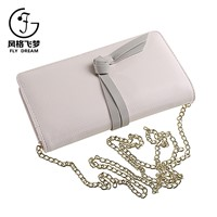 2017 Fashion Customized Leather Messenger Purse Long Chain Strip Crossbody Bag