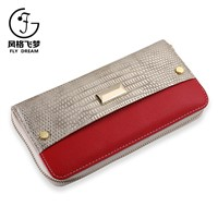 Classic Hot Sales Ladies Smart Single Zipper Travel Leather Purse Wallet