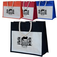 Eco-Friendly Laminated Jute/ Burlap Shopping Bags