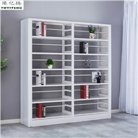 Double Sided School Library Book Display Shelf Bookcase