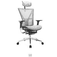 Ergonomic Mesh Office Chair with Height Adjustable Back Frame in White