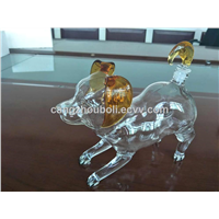 1000mlHandcraft Dog Shaped Wine Glass Bottles