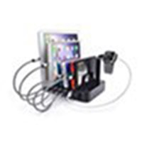 Portable Fast Phone Charger, 6 Port Multi USB3.0/5V Desktop Changing Station Stand with US-Plug for Cell Phone