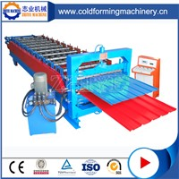 Colored Steel Double Deck Steel Roofing Tiles Cold Forming Machine