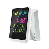 Professional Large LCD Digital Type & ABS Material Weather Station, 433mhz Wireless Weather Station