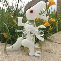 Cute Animal Dinosaur Glass Bongs Glass Water Pipes with Beautiful Per with Free Ship
