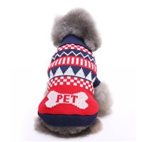 OEM Pet Dog Clothing Knitted Sweater