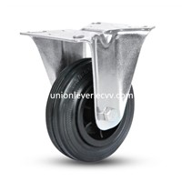 Black Rubber Light Industrial Caster with Plastic Center