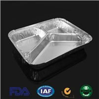 3chamber Aluminum Foil Container