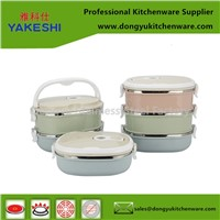 Multi-Layers Airtight Leakproof Insulated Thermal Square Stainless Steel Food Container