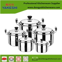 Best Selling OEM 10pcs Stainless Steel Cookware Set & Cooking Pot Set