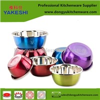 Colorful Stainless Steel Salad Bowls Mixing Bowls