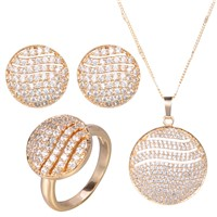 Gravity Fine Design Unique Elegant Luxury Saudi Dubai Imitation 24k Gold Plated Jewellery Sets
