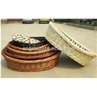 Cheap Pet Accessory Custom Size Wicker Hand Made Pet Basket