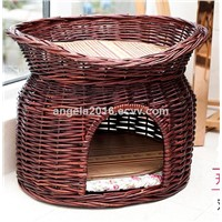 Wicker Hand Made Cat Pet Product Two-Tier Cat Beds Wholesale