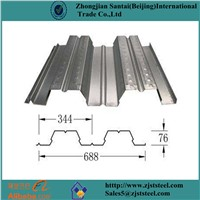 Low Price Zinc Coated Floor Decking Sheet / Floor Steel Plate