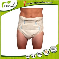 High Absorption PP/Magic Tape Clothlike Disposable Adult Diaper Brief Manufacture