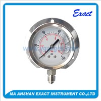 All Stainless Steel Flange Oiled Pressure Gauge