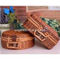 Wholesale Rattan Gift Hanging Storage Basket Cheap Plastic Baskets with Handles
