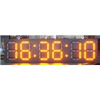 France Project of LED Digital Clock Time/Temp/Date Sign