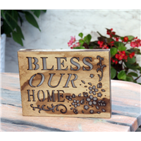 Wall Hanging Letter & Flower LED Wooden Light Box Home Decoration