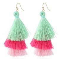 Multilayer Bohemian National Wind Popular Earrings